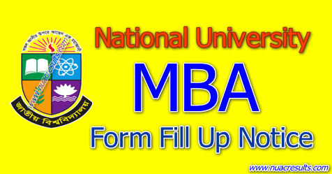 MBA Form Fill Up Notice