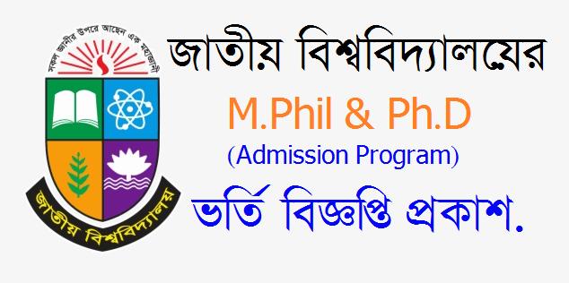 M.Phil & Ph.D Admission circular